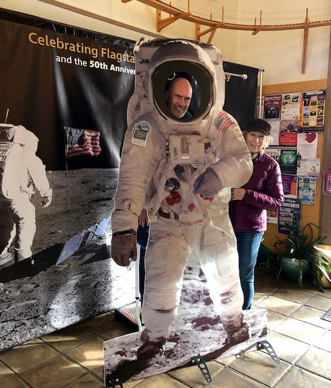 Playing astronaut at the Flagstaff Visitors Center. Photo by Meg Roederer