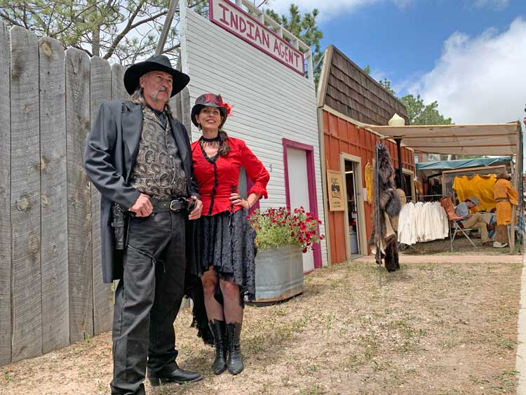 Historic characters at Old Frontier Town