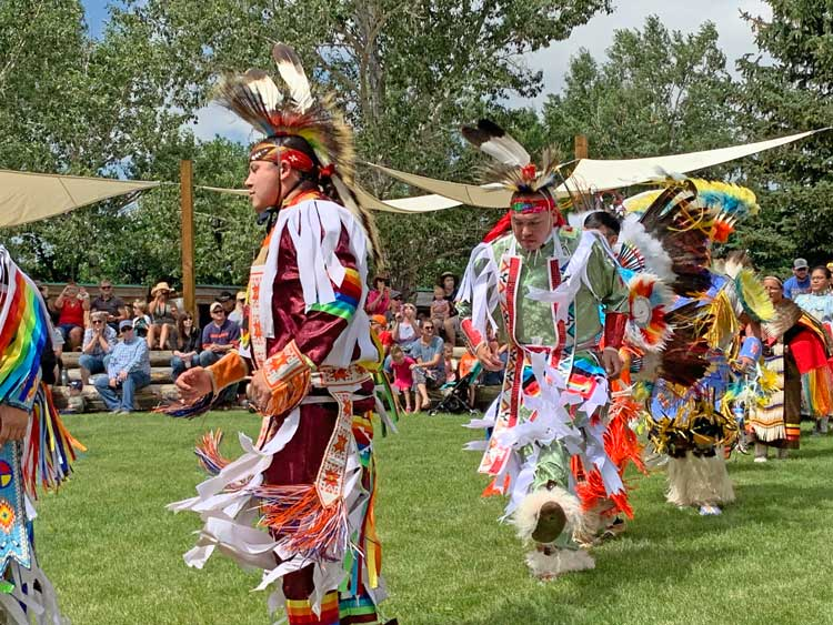 Dancers perform in Indian Village at Cheyenne Frontier Days