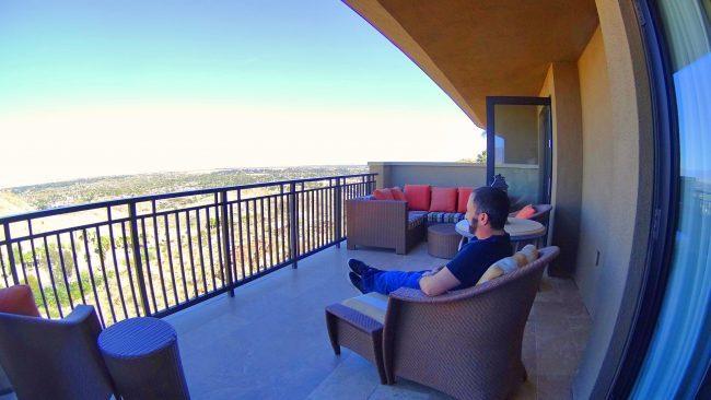 Ritz-Carlton suite balcony