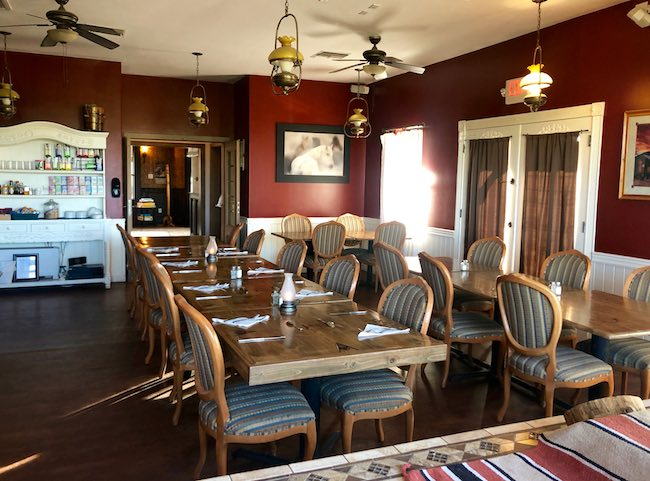 Dining Room at Tombstone Monument Ranch. Photo by Claudia Carbone