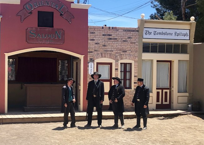 Actors re-enact the Gunfight at the OK Corral. Photo by Claudia Carbone