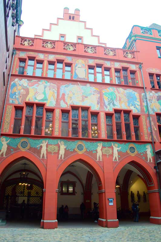 Medieval buildings in Basel