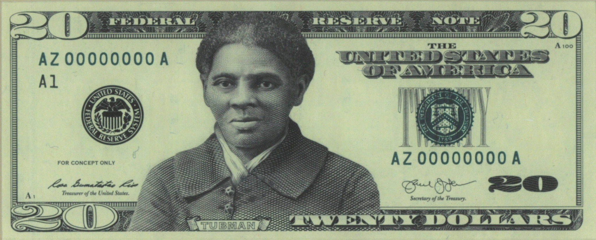 A concept for how the Harriet Tubman $20 bill would have looked, as reported and reproduced in the New York Times.