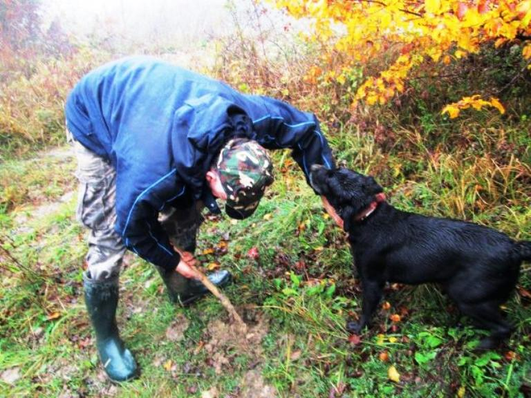Another Learning and Discovery Moment – Meeting with a Truffle Hunter. Photo by Fyllis Hockman