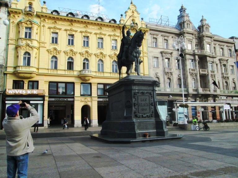 Main Square in Zagreb, the Sprawling Capital of Croatia. Photo by Fyllis Hockman