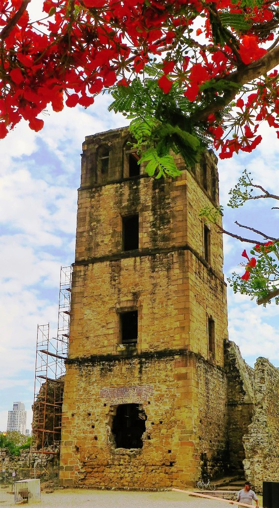 A Bell Tower Dating Back to 1519 as part of Panama's Spanish History. Photo by Fyllis Hockman