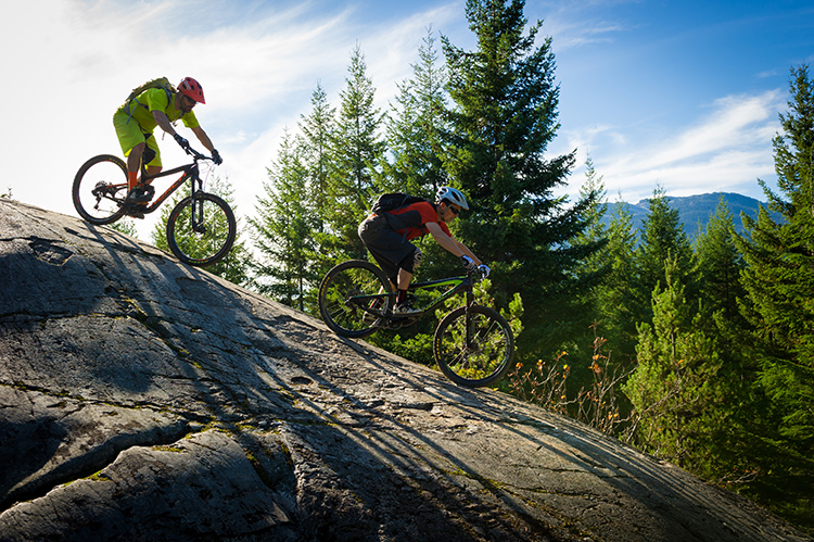 Cross country mountain biking at Lost Lake. Photo by Tourism Whistler.
