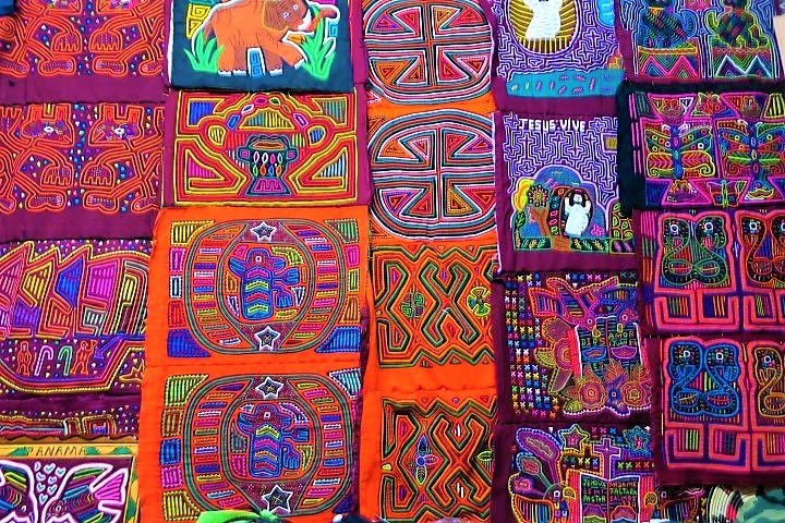 Molas made by Kuna women in Panama. Photo by Victor Block