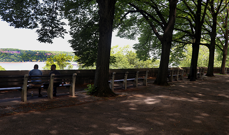 The Palisades and Hudson River Fort Tyron. Photo by Joyce McClure
