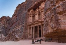 We visited Petra in Jordan