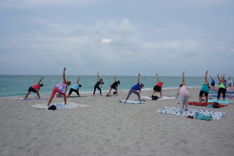 Yoga at Englewood Beach. Photo by Jennifer Huber, PureFlorida.com