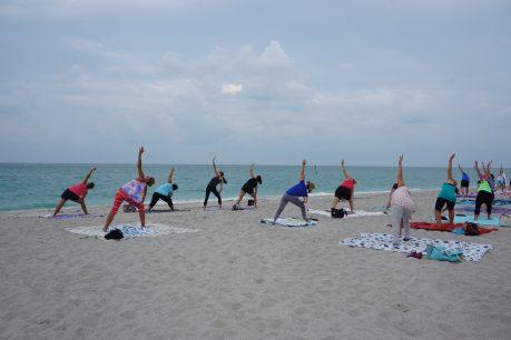Yoga at Englewood Beach. Photo by Jennifer Huber, PureFlorida.com