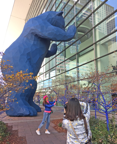Big Blue Bear is an iconic piece of art in Denver