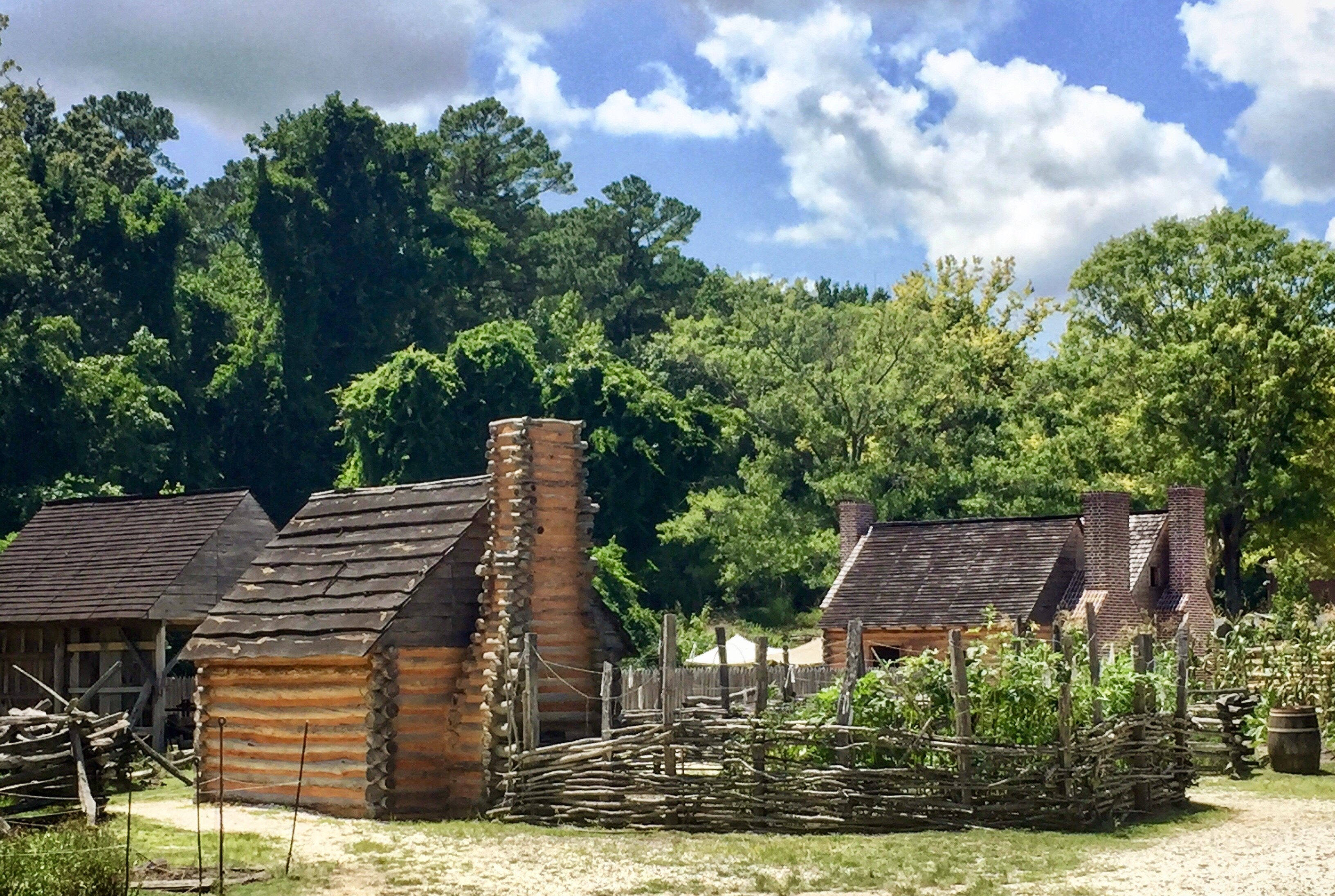 Slave quarters at the Museum of the American Revolution at Yorktown.