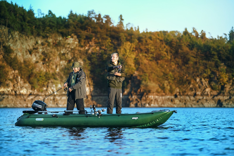 Inflatable boats for fishermen
