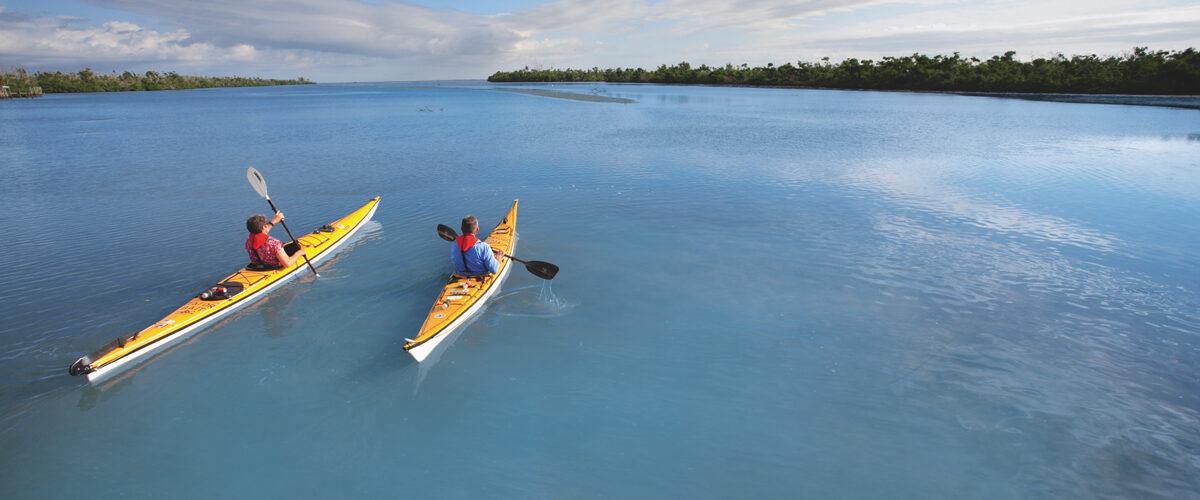 Kayaking near Sanibel Island