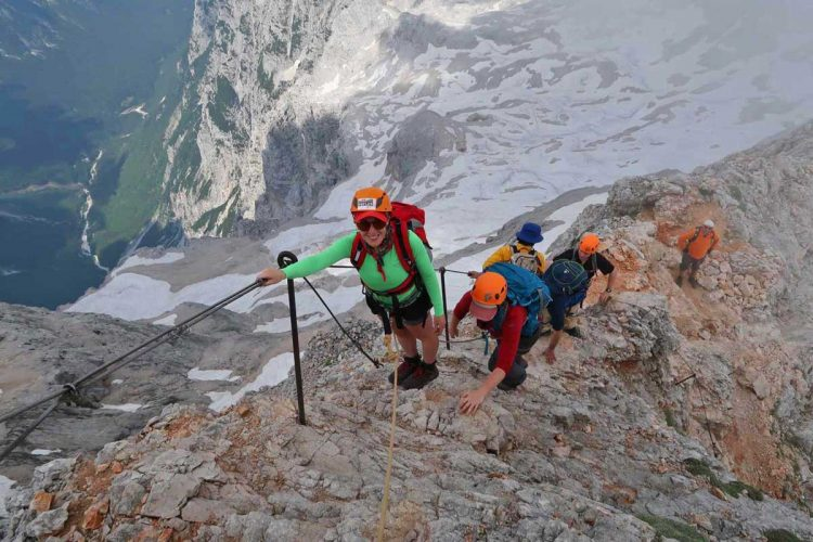 Climbing Triglav in Slovenia