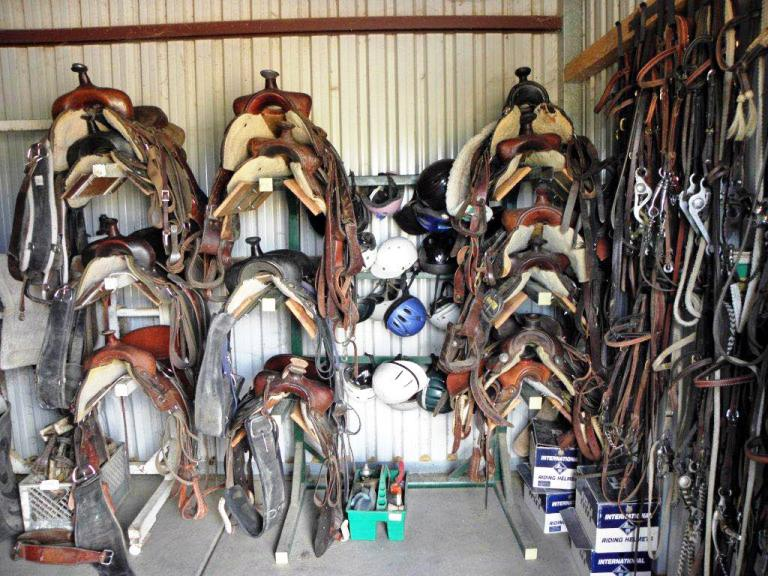 Saddles – Can't Go Far Without Them at Cowboy College in Scottsdale, Arizona. Photo by Victor Block