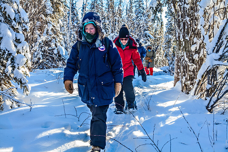 Snowshoeing at Blachford Lake Lodge