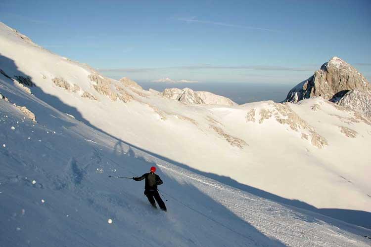 Triglav ski traverse in Slovenia