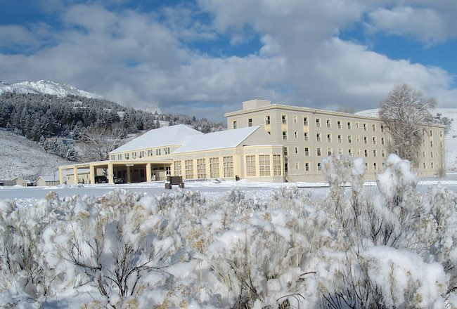 Mammoth Hot Springs Hotel & Cabins. Photo courtesy of Yellowstone National Park Lodges