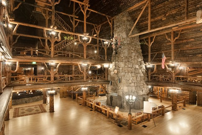 Old Faithful Inn.Photo courtesy of Yellowstone National Park Lodges