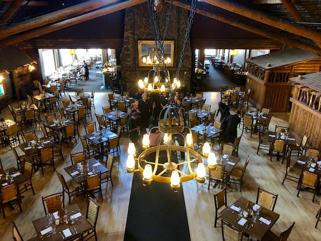 Dining Hall at Old Faithful Inn. Photo by Claudia Carbone