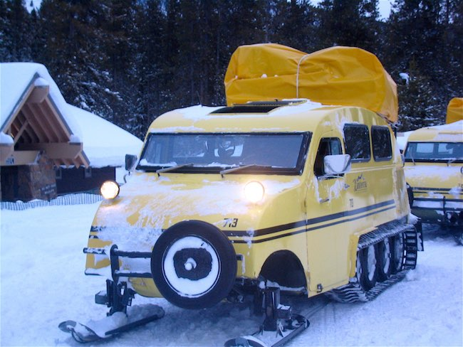 Yellowstone Snowcoach. Photo by Claudia Carbone