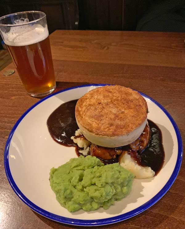 Meat Pies at King Charles House Worcester England