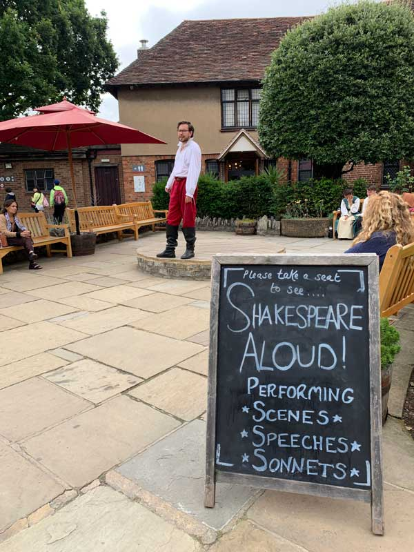Shakespeare performances at Shakespeare's Birthplace in Stratford-upon-Avon