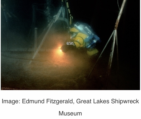 Image of the Edmund Fitzgerald shipwreck