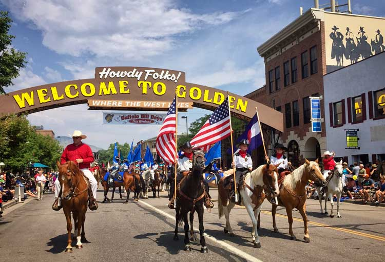 Buffalo-Bill-Days-in-Golden,-Colorado.