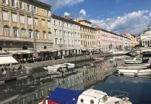 Canal Grande in Trieste, Italy