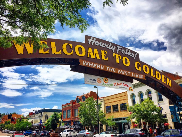 Golden Colorado Welcome Sign. Photo by Rich Grant.