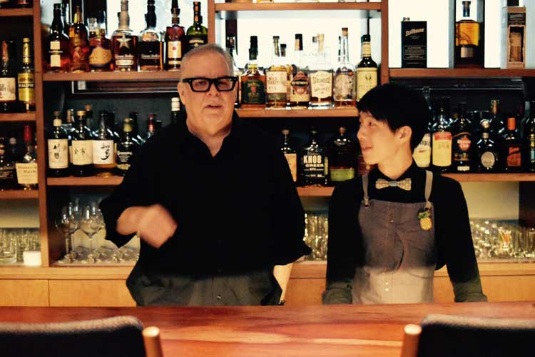 Mr. Stephen Knight (left) and Mr. Fuji at Bridge Bar in Japan. Photo by Masayoshi Sakamoto