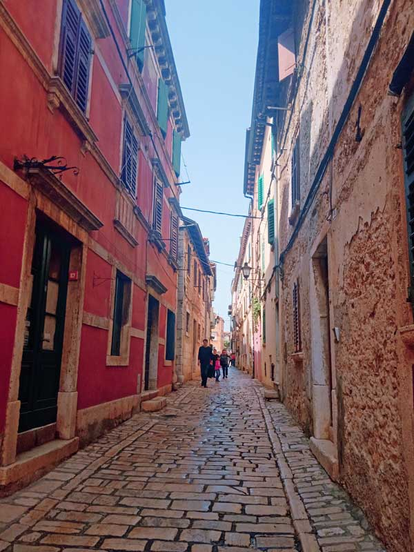 Walking through Old Town Rovinj, Croatia