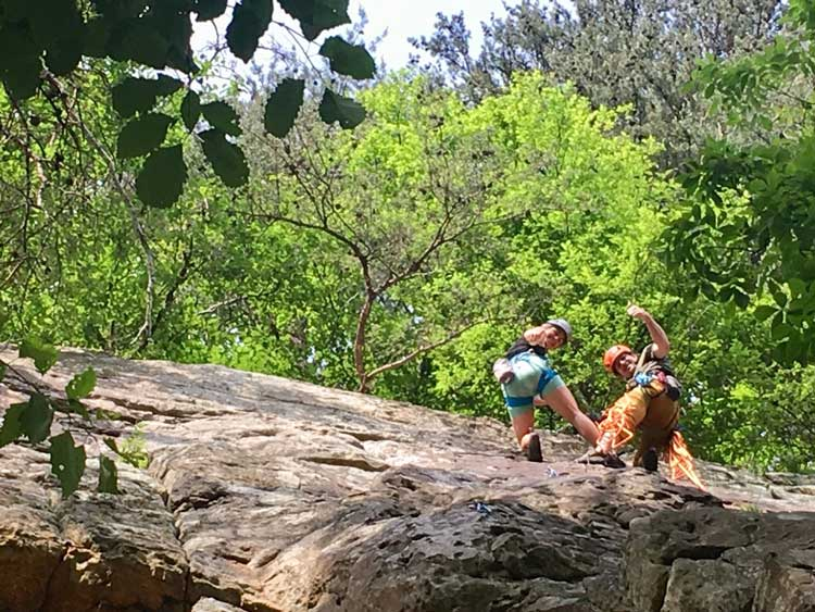 Rock climbing in Chattanooga