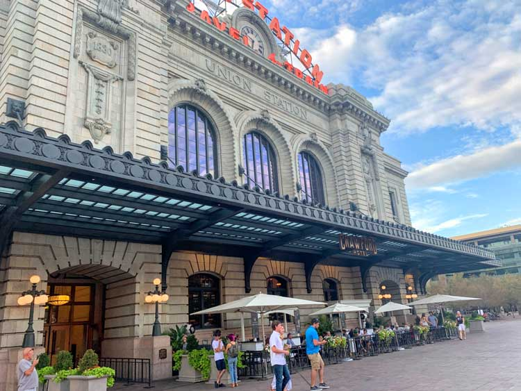 Dining at Union Station in Denver. Photo by Janna Graber