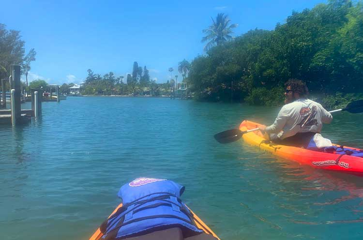 Kayaking with Beach Bums on Anna Maria Island. Photo by Janna Graber.