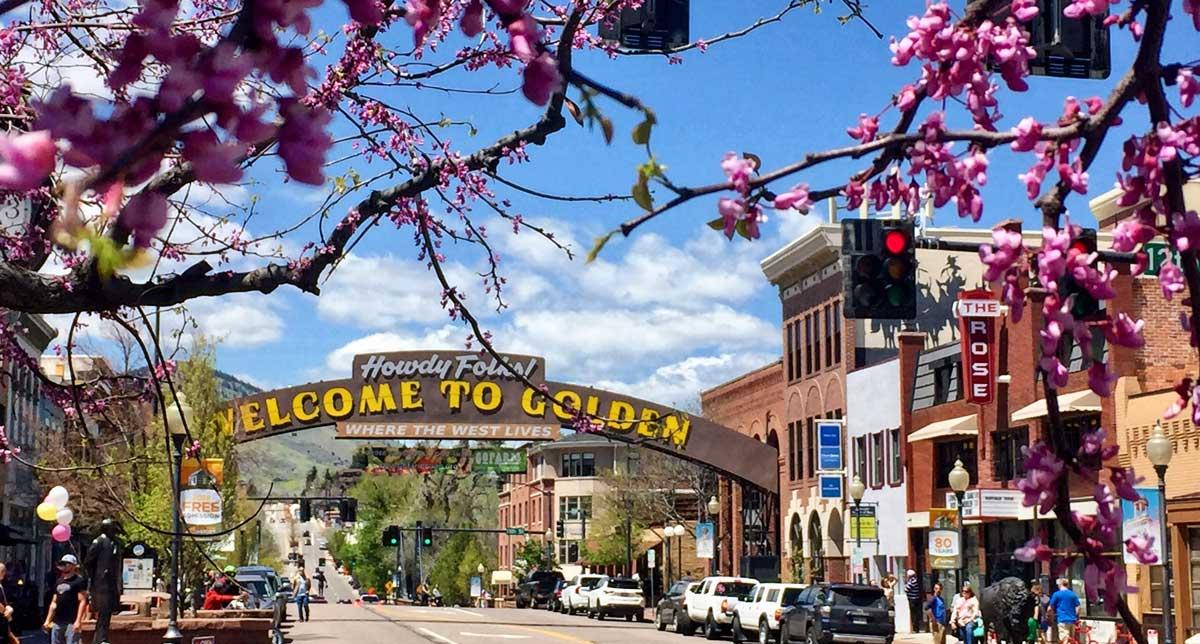 Golden is a mountain town near Denver, Colorado