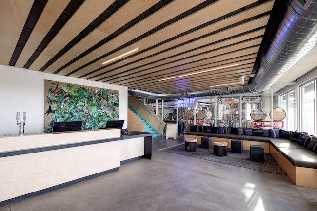 Lobby and brewery of The Source. Photo courtesy of JC Buck