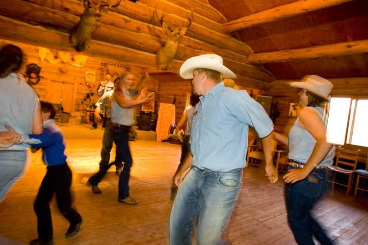 Square dancing in Crested Butte. Photo by Denise Chambers/Miles