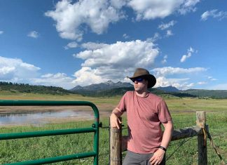 Benjamin Rader wearing the Everest, a travel hat from Tenth Street Hats.