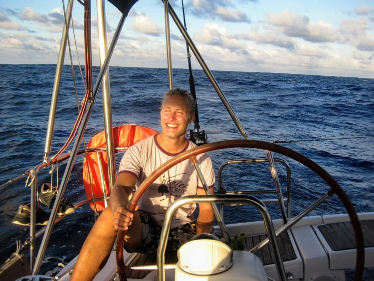 Christopher Schacht worked on ships and took other small jobs while traveling around the world.