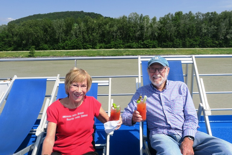 Relaxing on the Ship's Deck During Grand Circle's Danube River Cruise. Photo by Fyllis Hockman
