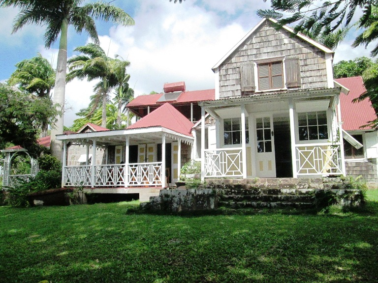 The Great House of The Hermitage Plantation in Nevis is the Oldest Wooden House in the Caribbean. Photo by Fyllis Hockman