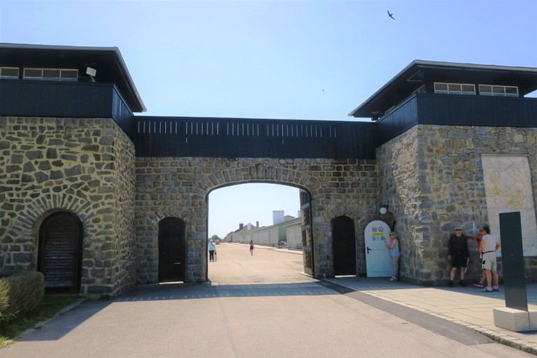 Entrance to the Mauthausen Concentration Camp in Linz, Austria. Photo by Fyllis Hockman