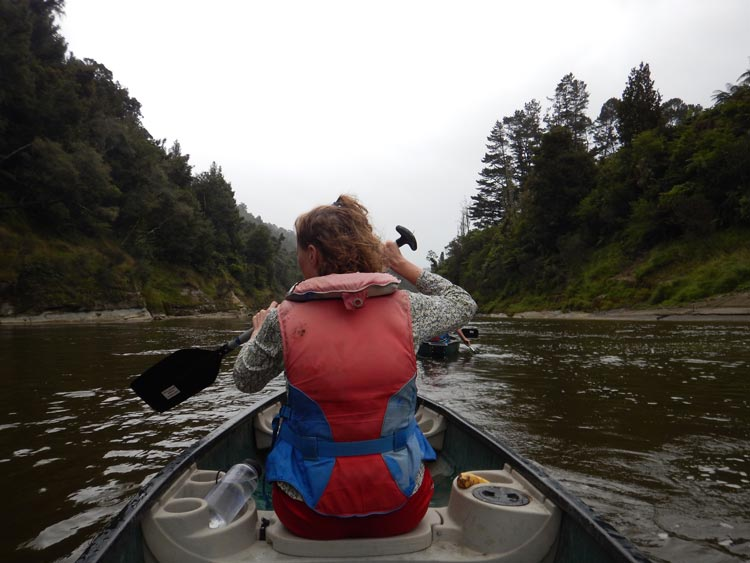 We set off on our adventure down the Whanganui River. Photo by Alison Spencer