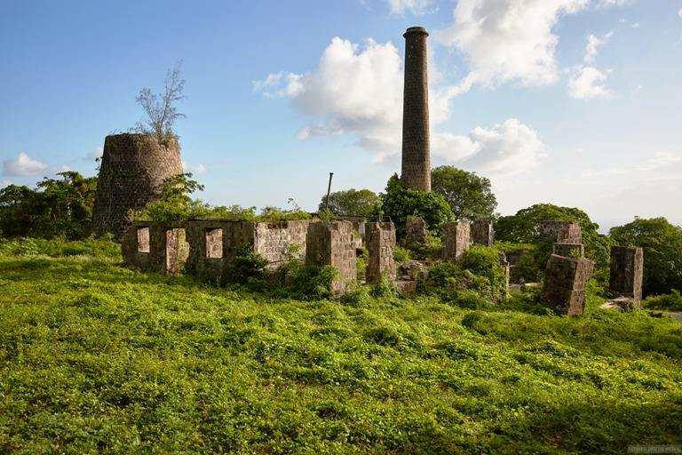 Alexander Hamilton's Family Sugar Mill Plantation Still Remains in Ruins. Photo by Fyllis Hockman